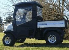 Kubota RTV 400 Black Doors and Rear Window Soft Cab Enclosure