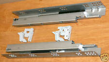 """Pair of 15"""" Full Extension Undermount Soft Close Drawer Slides Heavy Duty"""