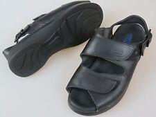 WOLKY Black Leather 2 Strap Sandals Shoes Women's EU 37 US 6
