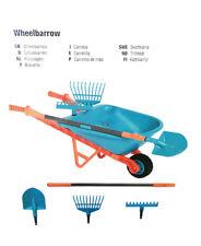 GARDENA Kids Plastic Wheelbarrow With Tools/garden Tools/spade/rake and Broom