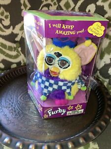 Vintage Furby Target Special Edition Jester New In Box (# 70-899) Damaged Box