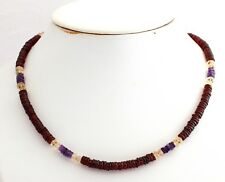 Garnet Citrine Amethyst Necklace Precious Stone Red Purple Yellow Jewelry Pretty