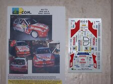 DECALS C.B.COM. 1/43ème 306 GR N  Monte-Carlo 2000