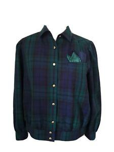Vintage Men's Large Green Blue Plaid Tartan Long Sleeved Shirt Del Mod brand