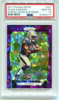 ALVIN KAMARA 2017 Panini Prizm Purple Crystals Rookie RC 53/75 PSA 10 Gem Mint