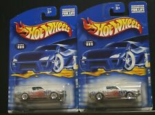 2 NEW HOT WHEELS HIPPIE MOBILES '68 MUSTANG 089 1/4 GRAY PEACE SIGN
