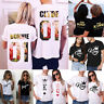New Couple T-Shirt Floral Crown King Queen Love Matching Summer Unisex Tee Tops