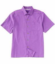Tommy Bahama Camp Silk Shirt Catalina Stretch Twill T321430 Men's 2xl Hot Viola
