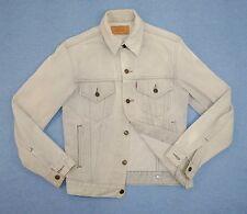Levi's Denim Trucker Jean Jacket Small 36 Light Gray White Original No Big E LVC