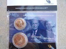 2015 Dwight D. Eisenhower Presidential $1 Coin 1st Spouse Medal Set OGP Original
