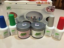 SNS Signature Nail System White & Natural Pink FRENCH SYSTEM Nail Dipping Powder