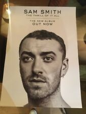 Sam Smith - The Thrill Of It All.    Promo Poster (Mint)
