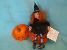 Ooak Sculptured Small Witch Girl Doll by Artist Tami Everslage