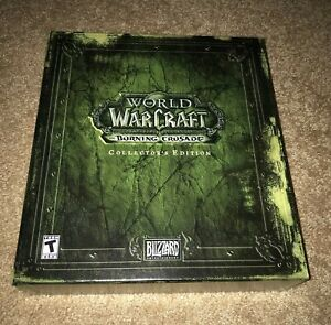 WORLD OF WARCRAFT BURNING CRUSADE COLLECTOR'S EDITION COMPLETE BLIZZARD