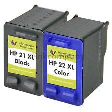 2 Druckerpatronen HP 21 22XL bk Deskjet D2445 D1341 D1320 D1311 D1560 D2460 D245