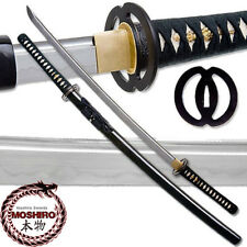 MOSHIRO Clay Tempered 1060 High Carbon Steel Katana Certified RfB Sword Miyamoto