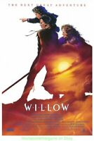 WILLOW MOVIE POSTER 27x40 Original SS 2nd Advance Style GEORGE LUCAS Film 1988