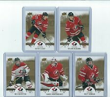2016-17 UD TEAM CANADA JUNIORS GOLD PARALLEL 5 CARD LOT