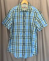 Robert Graham Men's XL BF Made In India 100% Cotton Classic Fit SS Dress Shirt!