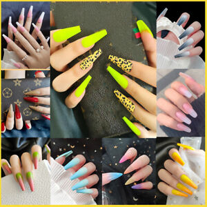 Gradient Full Cover False Nail Tips Fake Nails Fashion Women Manicure Tools