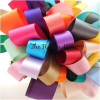35mm Double Satin Ribbon Bundle Assorted Colours 8 X 1Mtr Lengths
