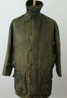 BARBOUR Border Olive Wax Jacket size 91Cm/36In