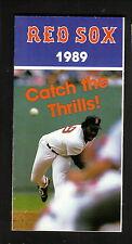 Lee Smith--1989 Boston Red Sox Schedule--Coke