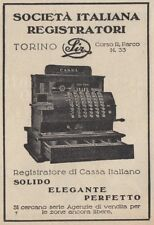 Z3586 SIR registratore di cassa italiano - Pubblicità d'epoca - 1927 advertising