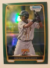 2012 Bowman Chrome Gregory Palnco Green Refractor Rookie