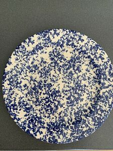 Moorland Blue And White Sponge Effect Plate