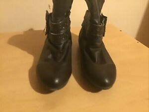 Ladies Brown Ankle Boot With Stud Detail Size 3/36 New Boxed
