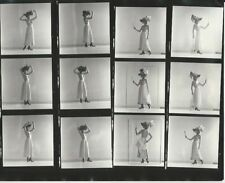 Hendrickson PHOTO Contact Sheet & Negatives Topless Victorian Beauty Hat Mirror