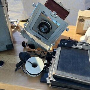 Graflex Graphic View 4x5 Film Camera with Lens, Case, Film Holders and Film