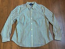 JONES NEW YORK SIGNATURE PETITE PXL Button Down Non-Iron Fitted Stripe Shirt