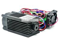 High Power Focusable 450nm 4W 4000mW Blue Dot Laser Engrave Module 12V w/TTL Fan