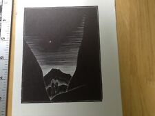 1930s Expressionist Wood Engraving print of couple in wilderness by Lynd Ward