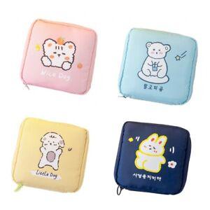 Ladies Cartoon Storage Bag Portable Cute Sanitary Napkin Storage Cosmetic Bag