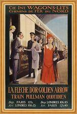 Internationale Wagons Lits Train Pulman Quotidien Paris London Plakate A2 270
