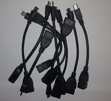 10x OTG Kabel USB A Buchse auf Micro USB B Adapter Adapterkabel  ca.20cm