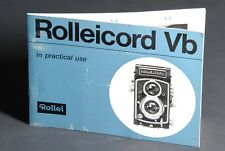 Rolleicord Vb In Practical Use 1964 Camera Instruction Book / Manual / Guide
