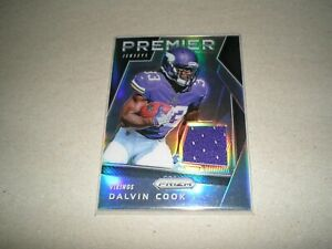 2017 panini prizm rookie jersey card vikings dalvin cook