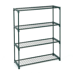 LARGE 4 TIER GARDEN STAND SHELVING RACK RACKING DISPLAY FLOWERS GREENHOUSE PLANT