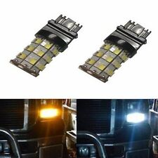 JDM ASTAR 2x 3157 LED Switchback Dual color  AX-2835 60 SMD White Amber LED Bulb