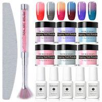 12Pcs/Set NICOLE DIARY Thermal Dipping Powder Color Changing Nail Art Dip Liquid