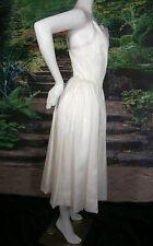 FANCY BRIDAL NY MOD IVORY WEDDING GOWN DRESS SHORT 6 VINTAGE INSPIRED  SILK