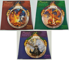 Mystical Shapes Fantasy Puzzle LOT OF 3 CEACO Wizard Dragon Knight Mythical