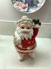 Vintage Spaghetti Trim Christmas Santa Claus Bank