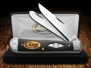 Case xx Trapper Knife Black Delrin Gold Logo Scrolled 1/500 Knives