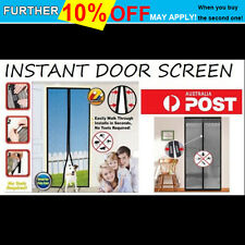 NEW Instant Mesh Screen Door Magnetic Bug Mosquito Fly Pet Patio Net Hands Free