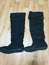 Size 6 Flat Black Kneww High Boots